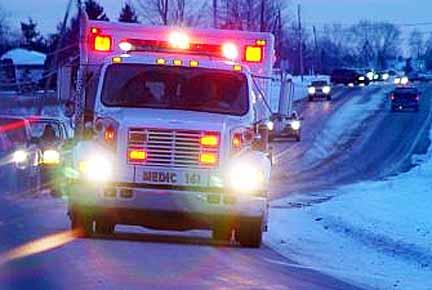 緊急自動車との事故の過失割合